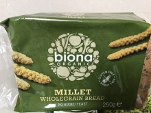 Millet whole Grain bread. No added yeast.